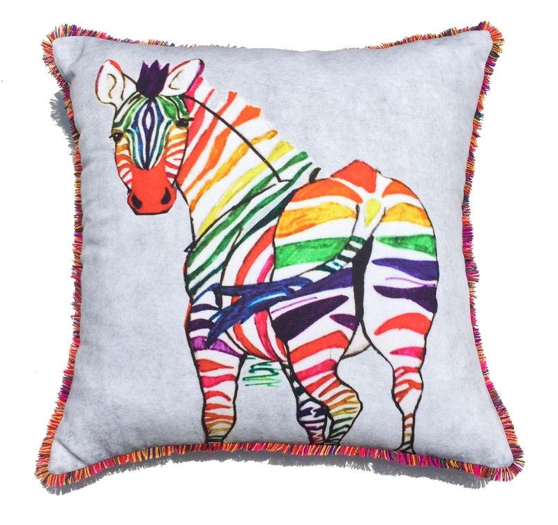 Wereldwinkel sittard webshop wonen woonaccessoires textiel kussen zebra - Verpakking kussen x ...